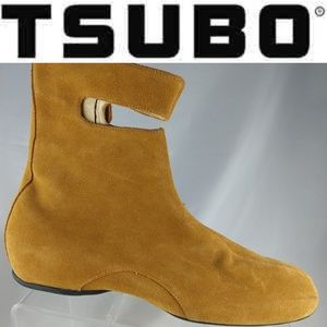 Tsubo Women Brown Suede Ankle Boots Size 9 M